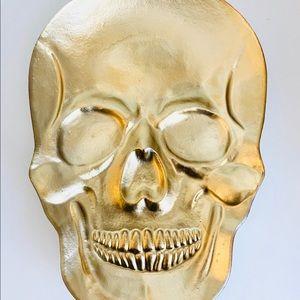 Gold Skull Plate